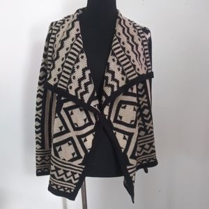 Forever 21 Aztec print open front cardigan